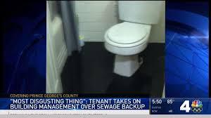 Sewage backup on the News